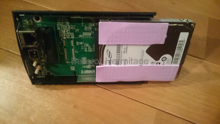 ネットワークオーディオ NAS IODATA RockDisk for Audio HLS-CHF HDL-T HLS-CM 分解 換装 HDD SSD ノイズ対策 振動対策 電磁波対策 fo.Qシート
