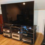 ラックレイアウトの変更(6)テレビの設置とネットワーク配線