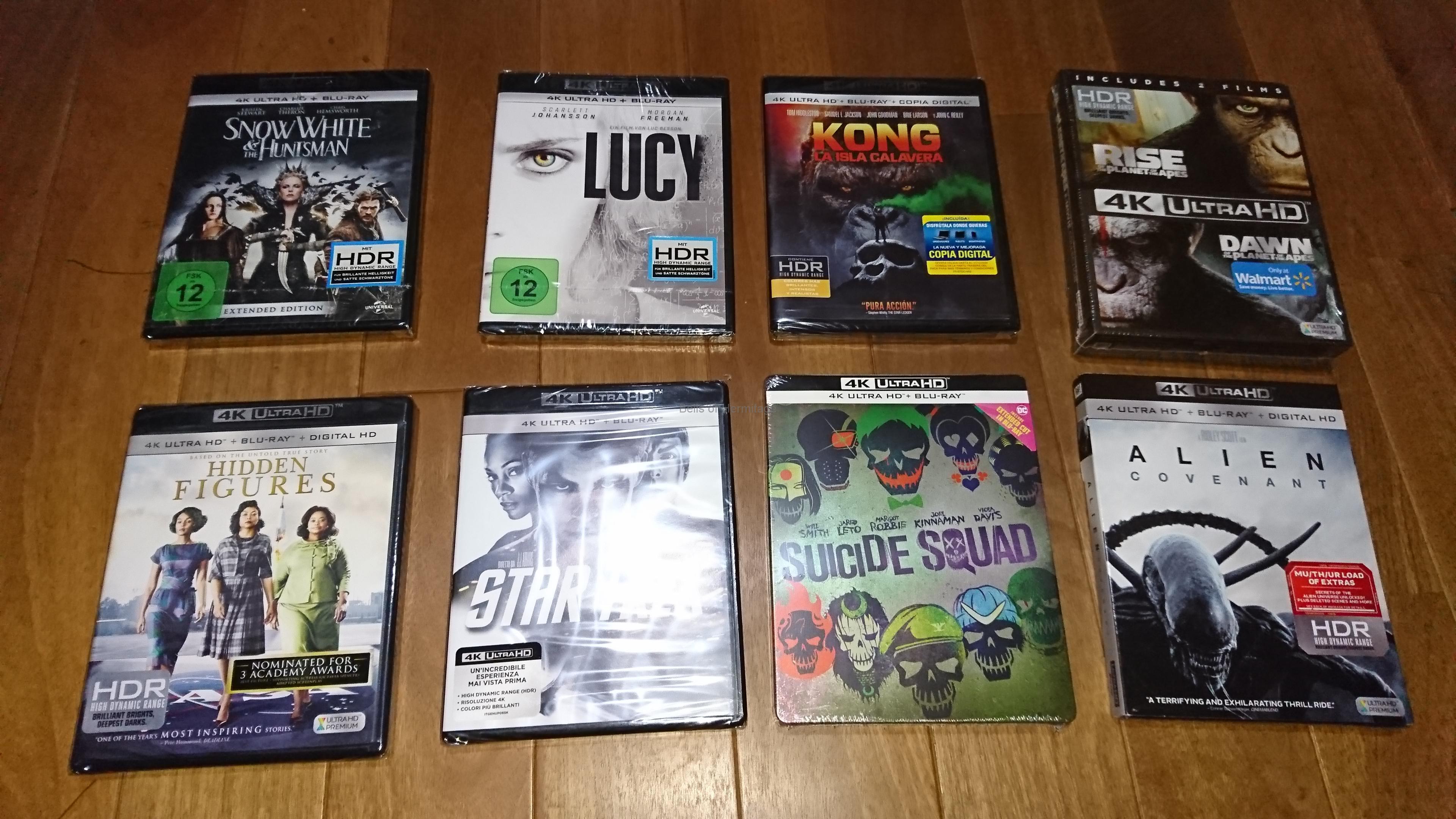 海外版4K Urtra HD Blu-rayソフトを大量発注(2)ボーン3作、パージ3作など16作品+1作品