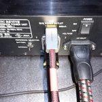 バッテリリファレンス電源RBR-1の電源ケーブルの交換(3)AudioQuest NRG-5