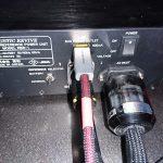 バッテリリファレンス電源RBR-1の電源ケーブルの交換(4)Acoustic Revive EE/F-2.6TripleC