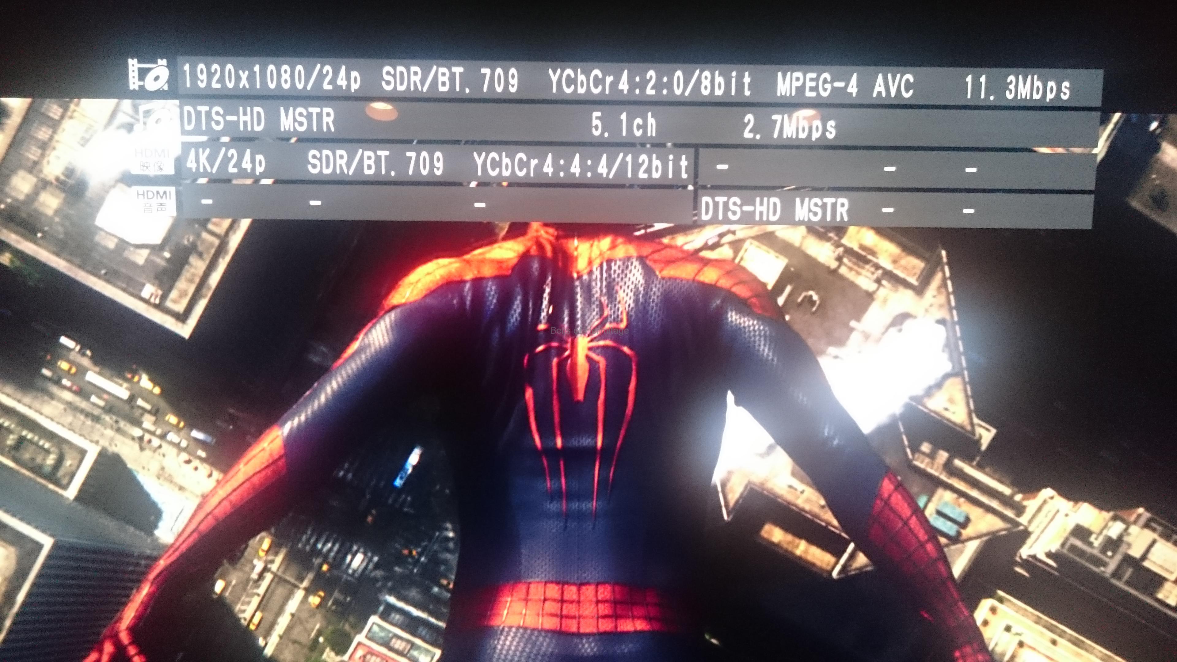 ホームシアター 4K/HDR Panasonic DMP-UB900 Urtra HD Blu-ray 4K Ultra HDソフト DVD Fantasium アメイジング・スパイダーマン2 The Amazing Spider-Man 2