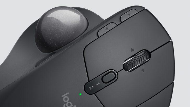 パソコン ゲーム マウス トラックボール Logicool MX ERGO 仕様 レビュー エルゴノミクス 腱鞘炎 予防