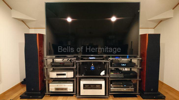 ホームシアター リモコンスタンド FJK 4K/HDR SONY BRAVIA KJ-75Z9D Marantz AV8802A NA-11S1 DENON POA-A1HD DVD-A1XVA DALI Helicon 800 S600 SpeakerCraft Profile AIM5 Three Panasonic DMP-UB900 DIGA DMR-BZT9000 DMR-BW970 SCEI Playstation4 Pro Playstation3 IODATA RockDisk for audio MELCO SYNCRETS DELA モニター評価機モデル