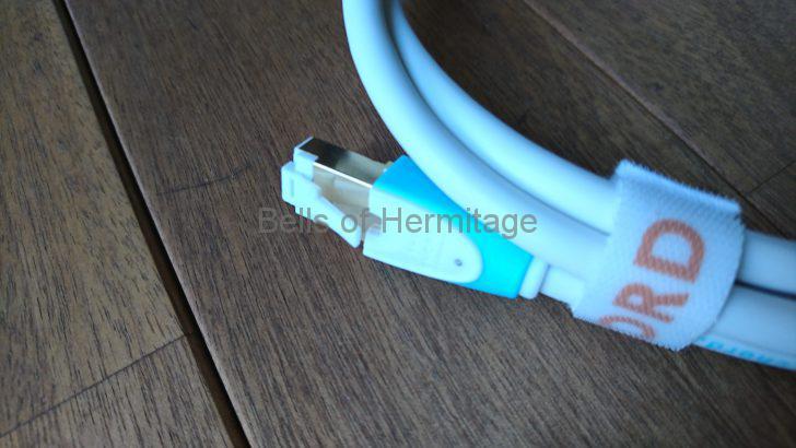 ネットワークオーディオ LANケーブル The Chord Company C-stream Ethernet LAN 方向指定 黒点 Andante Largo 代理店 レビュー