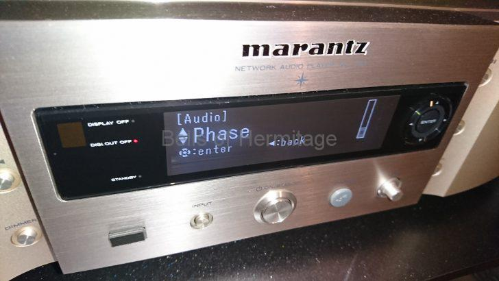 ネットワークオーディオ Marantz NA-11S1 AV8802A XLR端子 アメリカ式 ヨーロッパ式 極性 2番HOT 3番HOT 反転 設定 メニュー Phase Normal Inverted 正相 逆相