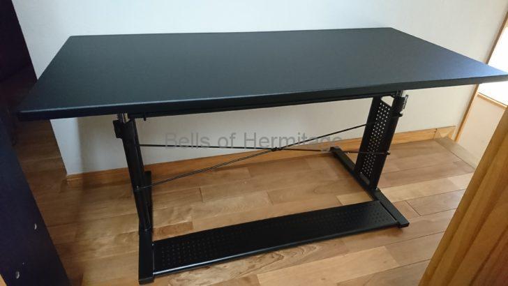 パソコンデスク ゲーミング Bauhutte 昇降式 PCデスク 不二貿易 昇降 テーブル NANAO LA-130-D-BK LG 29UM57-P BHD-1200M