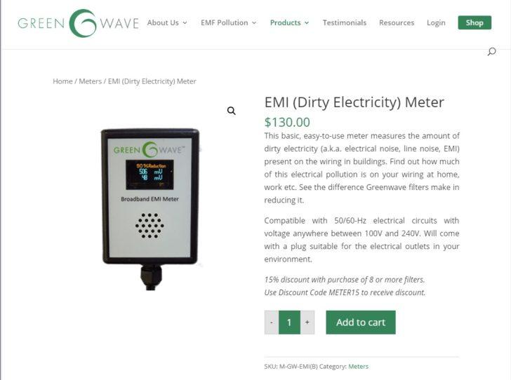 ホームシアター オーディオ 電源 ノイズ 計測 Greenwave Broadband EMI Meter Dirty Electricity Filter 購入手順 レビュー