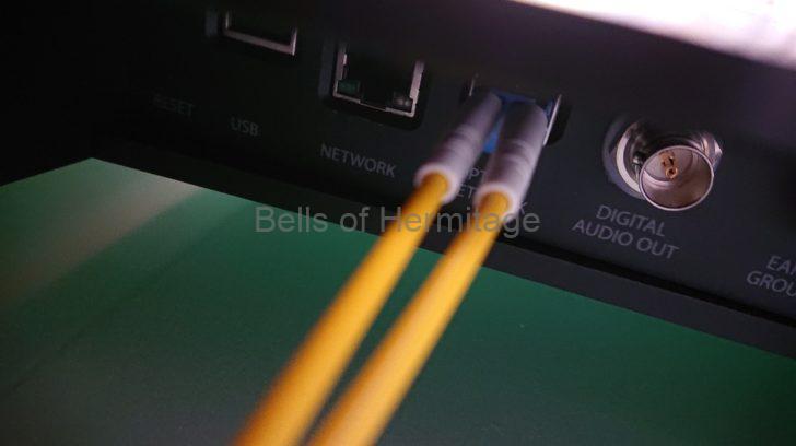 ネットワークオーディオ LUMIN X1 NAS メルコシンクレッツ DELA モニター評価機 LANケーブル Acoustic Revive LAN1.0 PC-TripleC R-AL1 RLT-1 RUT-1 日本テレガートナー M12 GOLD SWITCH M12 RJ-45 SFP 光ファイバー ノイズ ターミネータ