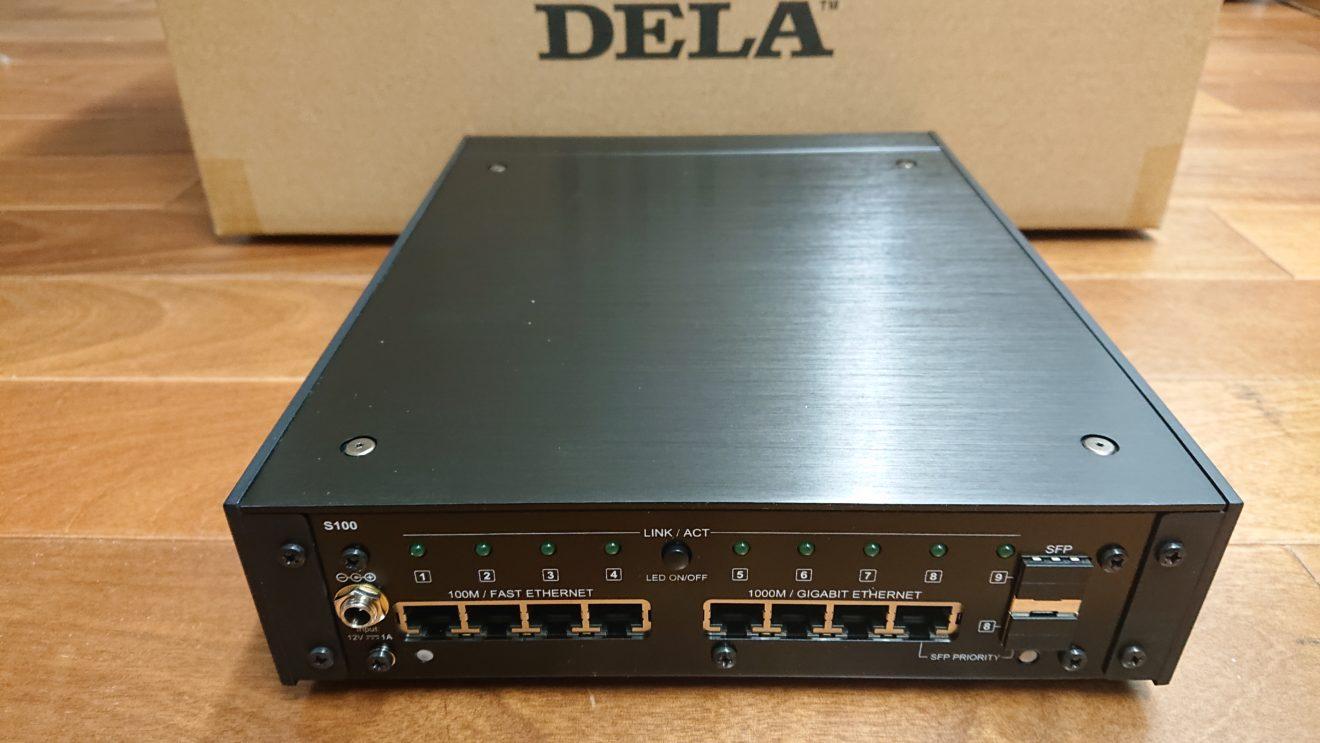 光メディアコンバータをアップグレード(1)メルコシンクレッツ DELA S100の到着
