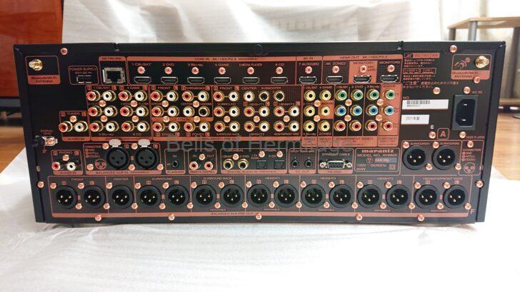ホームシアター AVプリアンプ Marantz AV8805A AV8802A 後継機 DAC 旭化成エレクトロニクス ESS SONY BRAVIA KJ-75Z9D 光ファイバーHDMIケーブル 相性 自宅試聴